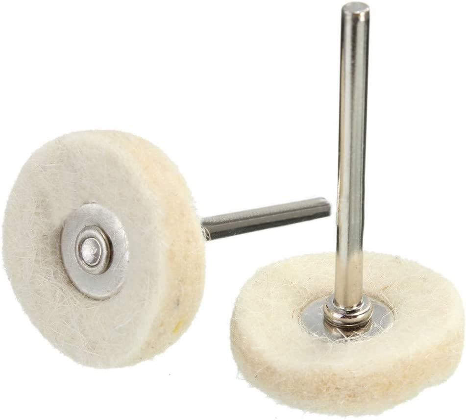 Wolle Polieren Kopf mit Handle Polierrad Schleifkopf DingLong 10pcs Wollrad Polierkopf mit Griff Polierscheiben Schleifkopf behandeln