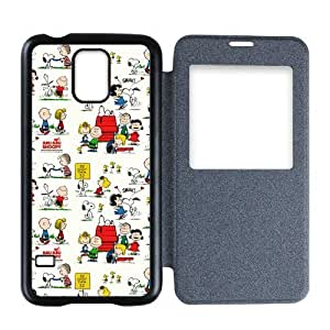 Snoopy Personalized Custom Flip Cover Case For Samsung Galaxy S5 by icecream design