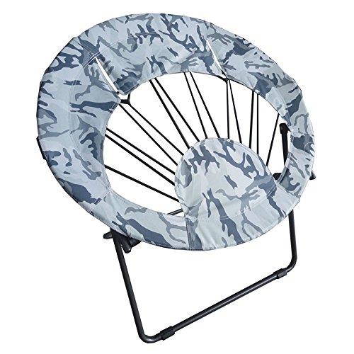 Impact Canopy Sunrise Bungee Chair, Round Portable Folding Chair, Blue Camo (Camo Chair Papasan)