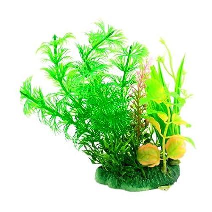 Amazon.com: eDealMax cerámica Tanque Base acuario de simulación Submarino Grass, DE 4,7 pulgadas, Verde: Pet Supplies
