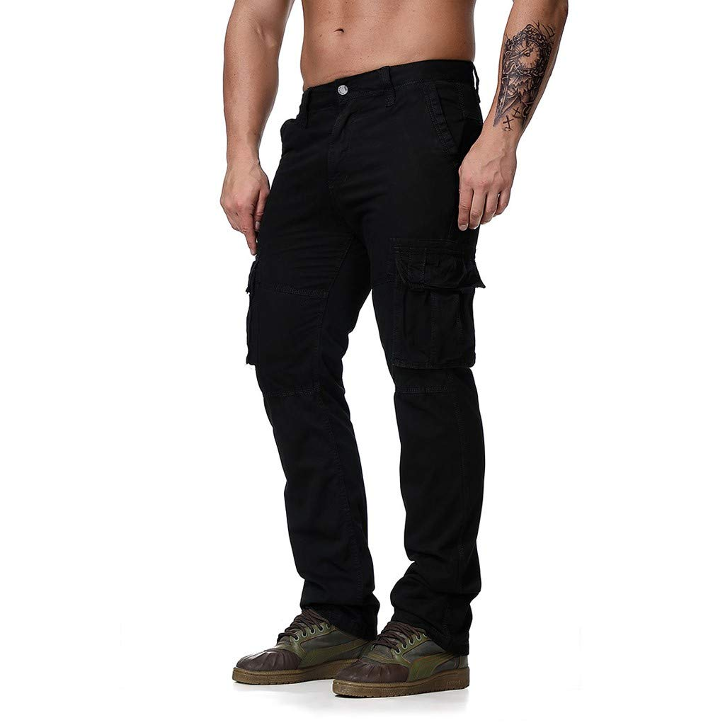 Men's Relaxed Fit Twill Tactical Cargo Pant,Athletic-Fit Work Pants Combat Rip-Stop Trousers (6XL, Black)