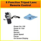 8 Function LANC Remote Control FOR THE Canon VIXIA HF20, HF11, HF100, HF10 Flash Memory Camcorders