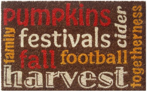 Entryways Autumn Spirit Non- Slip Coconut Fiber Doormat 17