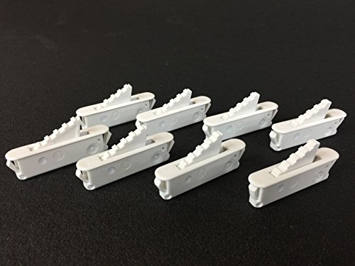 AE Market New Set of 8 White Window SASH Vent Stops by Ashland Hardware