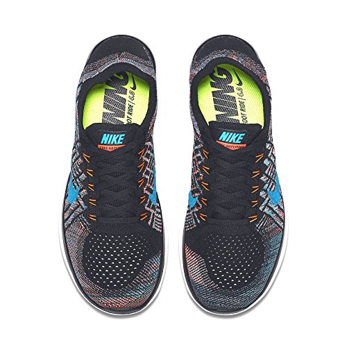 Nike Heren Gratis Flyknit 4.0 Zwart / Hyper Oranje-copa-blauwe Lagune