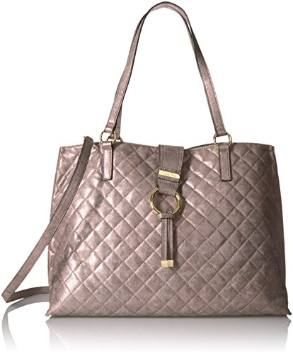 Calvin Klein Quilted Distressed Novelty Tote, Mtallic Taupe by Calvin Klein (Image #1)