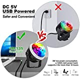 OMERIL Party Lights Disco Balls, 2 Pack USB Powered