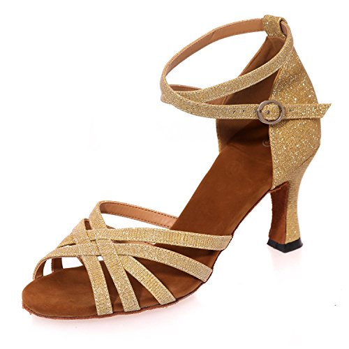 L@YC Women'S Latin Dance Shoes Open Toe Sandals More Colors Can Be Customized/Multi-Color Yellow Sh2iXyq