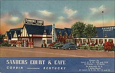 Birthplace of KFC: Sanders Court & Cafe Corbin, Kentucky Original Vintage Postcard