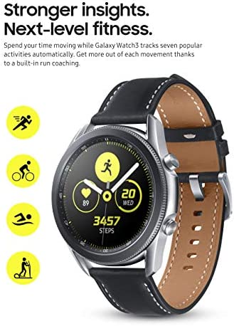 Samsung Galaxy Watch 3 (45mm, GPS, Bluetooth) Smart Watch with Advanced Health Monitoring, Fitness Tracking, and Long lasting Battery - Mystic Silver (US Version) 5