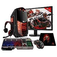 Pc G-fire Amd Ryzen 3 2200g 8gb 1tb monitor 21,5 Radeon Vega 8 2gb Integrada Computador Gamer Gks Htg-287 - Vermelho