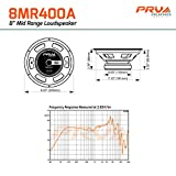 "4 x PRV Audio 8MR400A Mid Range 8"" Pro Audio Loud"