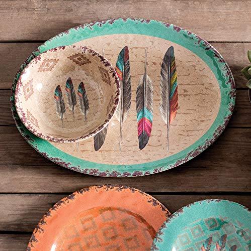 Feather Design Melamine Serving Platter -