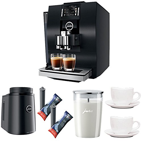 Jura 15182 Z6 Automatic Coffee Machine + Jura Glass Milk Container + Jura Smart Filter Cartridges + Cups
