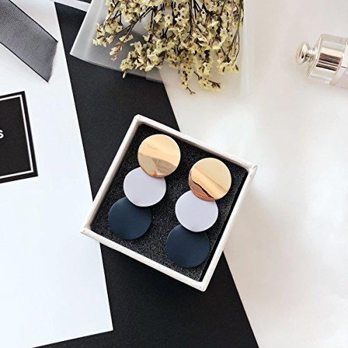 Wonderful Gift Metal Ornaments Beauty Woman Geometric Sequins Spell Color Earrings earings Dangler Eardrop Earrings ()