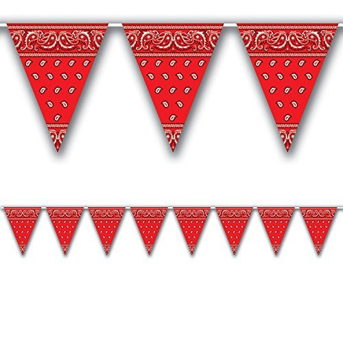 Western Banners - Bandana Pennant Banner Party Accessory (Value