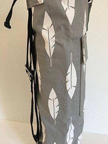 Amazon.com: Mens Yoga Mat Bag, Large Yoga Mat Tote, Canvas ...
