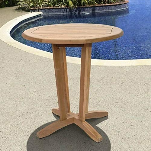 JumpingLight International Home Kansas 5 Piece Wood Patio Dining Set in Teak Durable and Ideal for Patio and Backyard ()