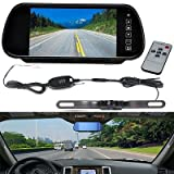 7″ LCD Mirror Monitor +Wireless Car Reverse Rear View Backup Camera Night Vision Review