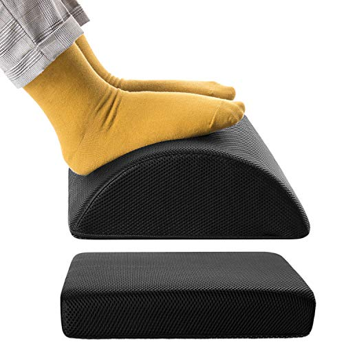 Nekmit Adjustable Foot Rest Non-Slip Ergonomic Multifunctional Firm Foam Half-Cylinder for Home and Office