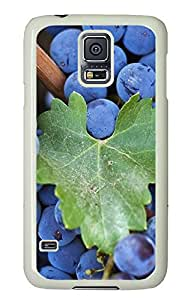 Samsung Galaxy S5 Cases & Covers - Black Grapes PC Custom Soft Case Cover Protector for Samsung Galaxy S5 - White