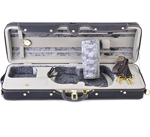 ADM 4/4 Full Size Professional Deluxe Violin Case, Silk Interior by ADM