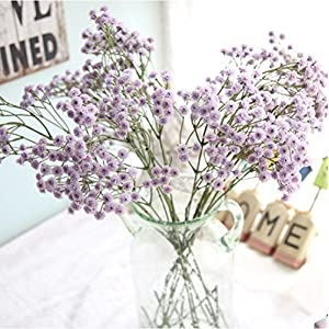 Ouniman Baby Breath Gypsophila Flower, Artificial Flowers Bulk Purple for Wedding Bridal Party Home Floral Arrangement Decor 76