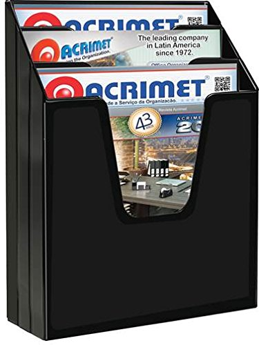 Acrimet Vertical File Folder Organizer (Black Color) by Acrimet