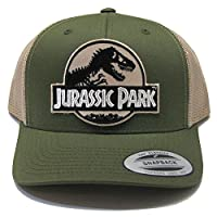 Jurassic Park Movie Desert Camo Patch Trucker Moss Khaki Cap Hat by Project T