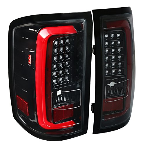Jet Black Edition GMC Sierra 1500 2500HD 3500HD Rear LED Tail Lights Brake - Light Tail Gmc