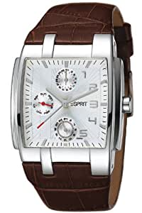 Esprit pure adventura brown houston 4442792 - Reloj de caballero de cuarzo, correa de piel color marrón