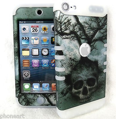 iPod Touch 5th 6th Gen Skull Tree Glow in the Dark Shock Resistant Cover Case