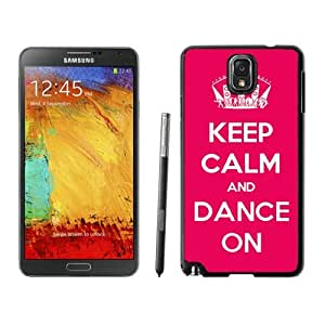 Cool Samsung Galaxy Note 3 Case Keep Calm And Dance Red Background Durable Soft TPU Black Phone Cover