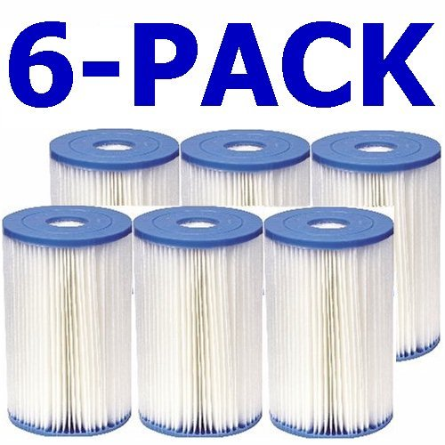 (Intex 59905CS N/AA Full Case of 6 Brand Type B Pool Filter Cartridges M, White)