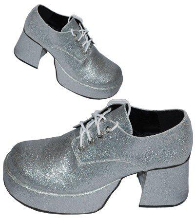 Plateauschuhe Plateau Herren silber Shoes 50er 60er 70er