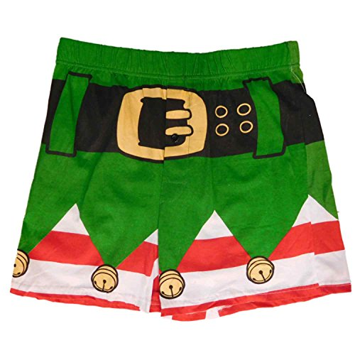 Men's Green Christmas Elf Boxer Shorts