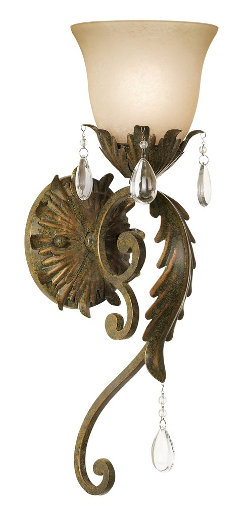 Valentina Collection 19 1/2'' High Iron Leaf Wall Sconce