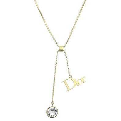 reputable site fbd82 41ae1 Amazon | (クリスチャン ディオール) Christian Dior ネックレス ...