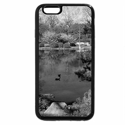iPhone 6S Case, iPhone 6 Case (Black & White) - Colors near pond