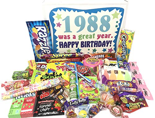 Woodstock Candy ~ 1988 31st Birthday Gift Box of Retro Nostalgic Candy from Childhood for 31 Year Old Man or Woman Born 1988 (Best Candy From The 90s)