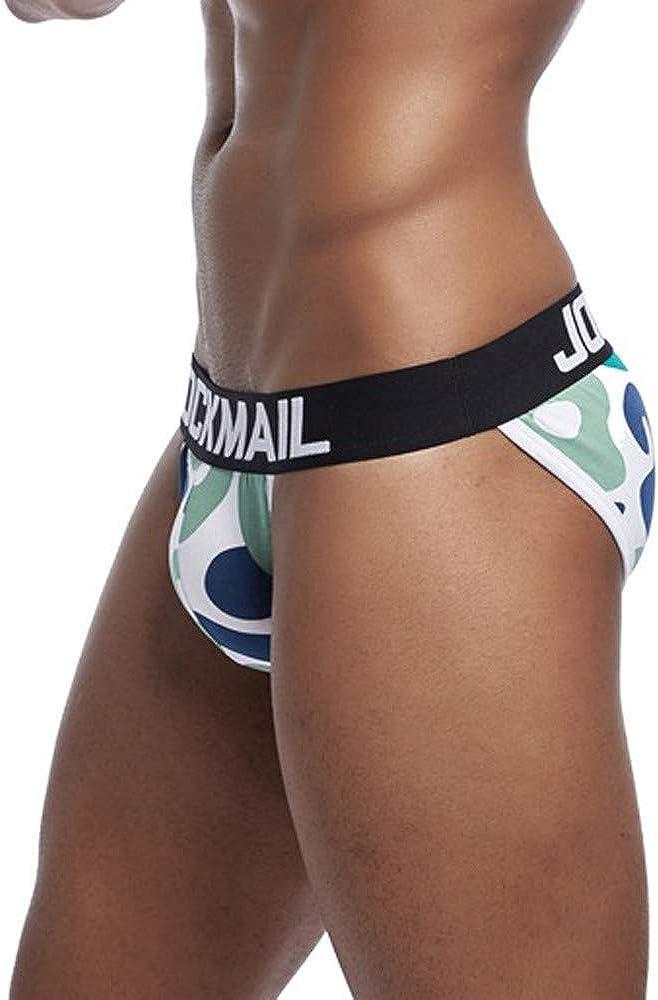 OCEAN-STORE Mens Underwear Camouflage Underpants Breathable Soft Cotton Briefs Panties