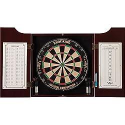 Viper Hudson Sisal/Bristle Steel Tip Dartboard & Cabinet Bundle: Standard Set (Shot King Dartboard)