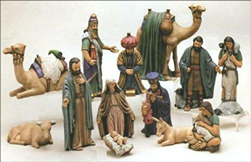 Duncan Christmas Ceramic Nativity 15 piece set 7'' to 9'' Ceramic Bisque, Ready To Paint by Creative Kreations Ceramics