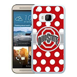 Ncaa Big Ten Conference Football Ohio State Buckeyes 45 White New Design HTC ONE M9 Protective Phone Case