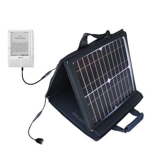 Amazon Kindle (1st Generation) compatible SunVolt Portable High Power Solar Charger by Gomadic - Outlet- speed charge for multiple gadgets by Gomadic