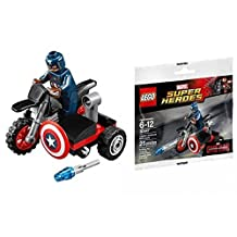 LEGO Super Heroes Marvel Civil War Captain America's Motorcycle (30447) [Bagged]
