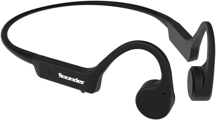 Dpower Audífonos de conducción ósea, auriculares inalámbricos con Bluetooth para conducción ósea, deportivos, ligeros, a prueba de sudor, para correr, conducir, ciclismo, senderismo y llamadas al aire