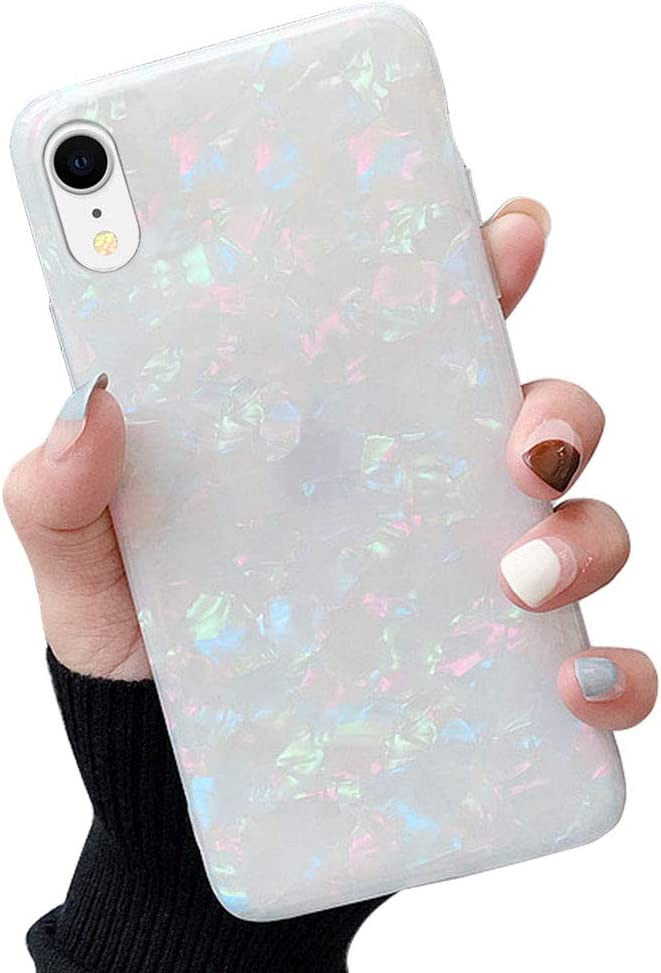 Qokey iPhone XR Case Cute Ultra Thin Sparkle Bling Crystal Clear Soft Bumper Lightweight TPU Silicone Anti-Scratch Phone Cover for iPhone XR 6.1 inch for Girls Women Colorful