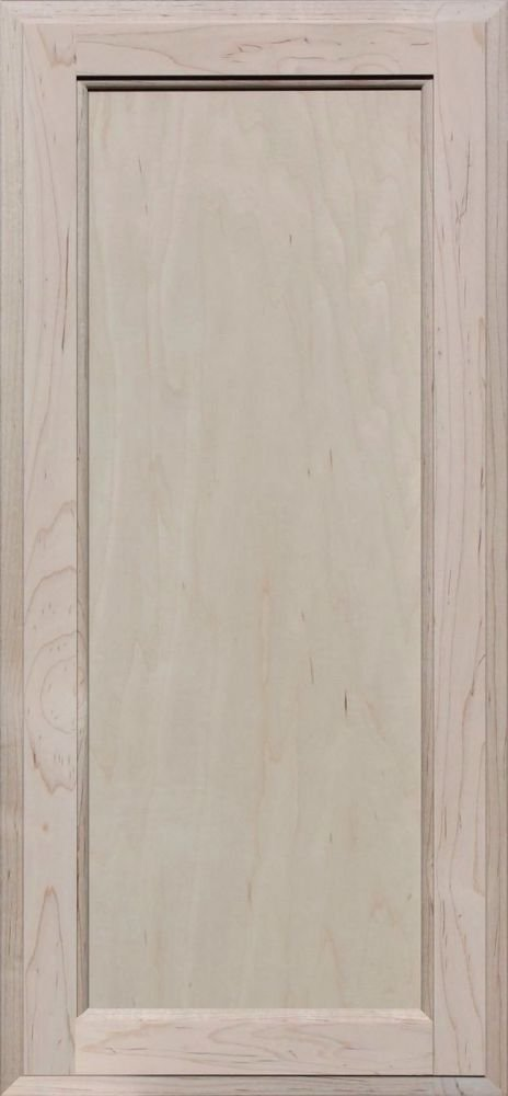 Unfinished Maple Square Flat Panel Cabinet Door by Kendor 28H x 13W