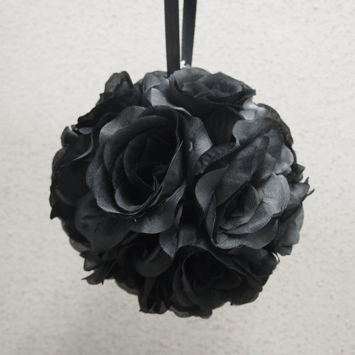 Pomander Flower Balls Wedding Centerpiece, 6-inch, Black